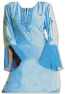 Light Blue Chiffon Trouser Suit - Indian Dress