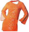 Orange/Red Georgette Trouser Suit- Pakistani Casual Dress