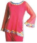 Magenta Chiffon Trouser Suit - Pakistani Casual Clothes