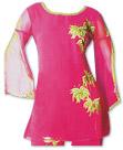 Magenta Chiffon Trouser Suit- Pakistani Casual Dress