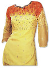 Orange/Yellow Chiffon Suit�- Indian Dress