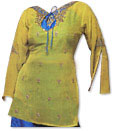 Yellow/Blue Chiffon Suit�- Indian Semi Party Dress