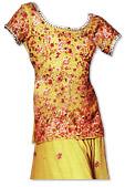 Parrot Green Chiffon Lehnga - Pakistani Wedding Dress