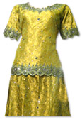Mustard Jamawar Lehnga- Pakistani Wedding Dress