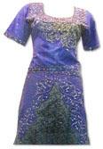 Blue Katan Silk/Jamawar Lehnga