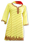 Cream/Maroon Georgette Suit- Pakistani Casual Dress