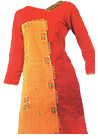 Orange/Yellow Georgette Suit   - Pakistani Casual Clothes