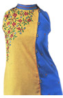 Turquoise/yellow Georgette Suit   - Pakistani Casual Dress