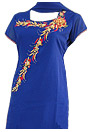 Royal Blue Georgette Trouser Suit - Indian Dress