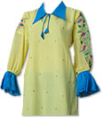 Yellow/Turquoise Chiffon Suit   - Pakistani Casual Clothes