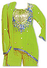 Parrot Green Georgette Suit- Indian Semi Party Dress