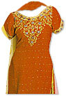 Rust Orange Chiffon Suit- Indian Semi Party Dress