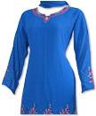 Royal Blue Georgette Suit - Pakistani Casual Dress