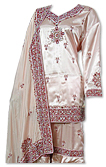 Peach Satin Silk Gharara- Pakistani Bridal Dress
