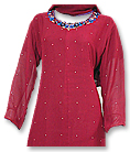 Maroon Georgette Trouser Suit- Indian Semi Party Dress