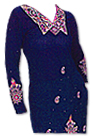 Navy Blue Georgette Trouser Suit - Pakistani Casual Clothes