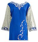 Royal Blue/Light green Suit- Pakistani Casual Clothes