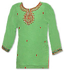 Light Green/Red Georgette Suit