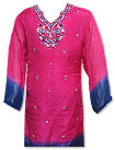 Shocking Pink/Blue Chiffon Suit