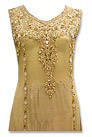 Light Golden Crinkle Chiffon Suit - Formal clothing