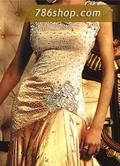 Golden Silk Lehnga- Pakistani Formal Designer Dress