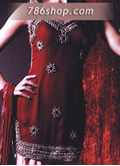 Maroon/Pink Chiffon Suit- Pakistani Party Wear Dress