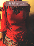 Red Georgette Suit- Pakistani Formal Designer Dress