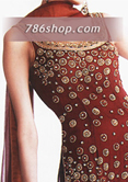 Maroon Chiffon  Suit- Pakistani Party Wear Dress