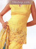 Yellow Silk Gharara- Pakistani Party Wear Dress