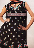 Black/Pink Chiffon Suit- Pakistani Party Wear Dress