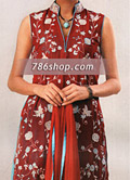 Maroon/Turquoise Silk Suit- Pakistani Party Wear Dress