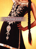 Black Chiffon Lehnga- Pakistani Bridal Dress