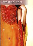 Orange Chiffon Suit- Pakistani Party Wear Dress