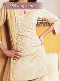 Light Golden Silk Trouser Suit - Pakistani Party Wear Dress