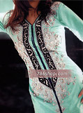 Sea Green Silk Suit- Pakistani Party Wear Dress