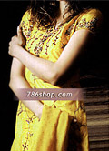 Yellow Silk Suit- Pakistani Formal Designer Dress