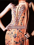 Rust Orange Chiffon Suit- Pakistani Formal Designer Dress