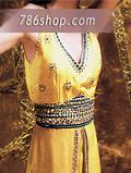 Yellow Crinkle Chiffon Suit- Pakistani Party Wear Dress