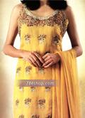 Yellow Crinkle Chiffon Suit- Pakistani Formal Designer Dress
