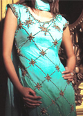 Sea Green Silk Suit- Pakistani Formal Designer Dress