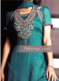 Teal Chiffon Suit- Pakistani Formal Designer Dress