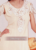 Off-White/Golden Chiffon Lehnga- Pakistani Formal Designer Dress