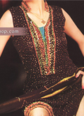 Dark Brown/Golden Chiffon Suit- Pakistani Formal Designer Dress