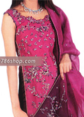 Hot Pink/Maroon Chiffon Suit- Pakistani Party Wear Dress