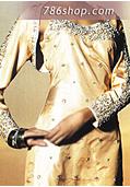 Golden Silk Suit- Pakistani Party Wear Dress