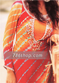 Orange/Mustard Chiffon Suit- Pakistani Party Wear Dress