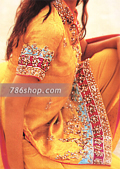 Yellow Jamawar Silk Suit- Pakistani Formal Designer Dress
