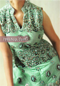 Sea Green Crinkle Chiffon Suit