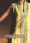 Yellow Silk Suit- Pakistani Party Wear Dress