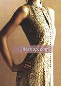 Beige Crinkle Chiffon Trouser Suit- Pakistani Formal Designer Dress